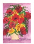 Red and Yellow Roses For Prints